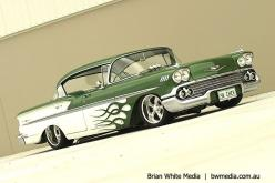 58 Chevy Bel Air Sport Sedan <3 the Green Flames!: Bel Air, Belair, Classic Cars, Sports, 58 Chevy, Hot Rods, Chevy Bel