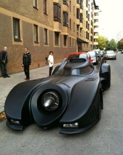 A Bat-Mobile built on a Lincoln Continental chassis in Sweden.: Stuff, Vehicle, Dream Cars, Auto, Batman, Batmobile