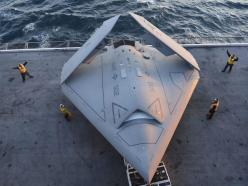 'A chance to see the future': U.S. Navy lands fighter-jet sized drone on aircraft carrier for first time: Aircraft Carrier, Airplane, Combat Air, Navy, Fighter Jets, Drones