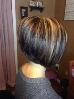 A line stacked bob: Short Hair, Haircuts, Stacked Haircut, Hairstyles, Hair Styles, Hair Cuts, Stacked Bobs, Hair Color