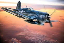 A Marine Corps F4u Corsair flies home after a mission in the South Pacific.: Corsair Flies, Corps F4U, Wwii, F4U Corsair, Airplanes Helicopters, Airplanes ️, F4U 3 Corsair