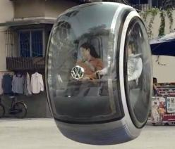 A real floating VW car! Check out the video it shows the car driving around town and the cool braking features.: Concept, Idea, Flying Car, Floating Car, Concept Cars, Volkswagen