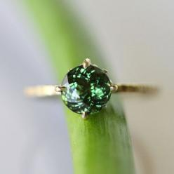 A ring.: Emerald Green, Color, Gold Rings, Jewelry, Accessories