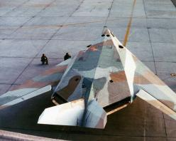 A USAF F-117A Nighthawk wearing an experimental paint scheme during daylight operations trials from Edwards Air Force Base.: Avionics Online, Daylight Operation, Nighthawk F117, Fighter, F117 Nighthawk