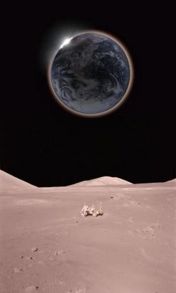 A view of Earth from The Moon taken by NASA.: Planets, Nasa, Final Frontier, Outer Space, Earth, Photo, Universe, Solar Eclipse, The Moon