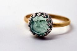 Aa...I love the blue stone.. Get me a Sapphire and I would nod my head.. 25 Unconventional + Affordable Engagement Rings via Brit + Co.: Wedding Ring, Fill Band, Gold Engagement Rings, Cocktail Rings, Fluorite Ring, 14K Gold, Band Handforged