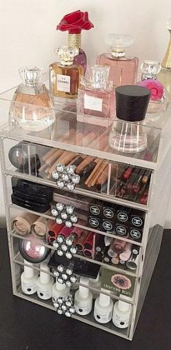 Acrylic Makeup Organizer 5 Drawers The Beauty Cube: