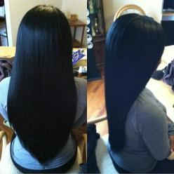 """Affordable luxury 100% virgin hair starting at $55/bundle in the USA. Achieve this look with our luxury line of Brazilian Yaki Straight hair extensions, available in lengths 12"""" - 26"""". www.vipextensionbar.com email info@vipextensionbar.com: Long S"""
