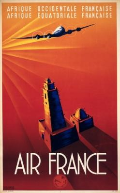 Afrique Occidentale Francaise - Air France | Vintage travel poster. #AdventureSpace: Vintage Travel, Airline Posters, Air France, Vintage Posters, Vintage Travel, Travel Posters, Art Deco, Airfrance