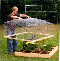ALL NEW SQUARE FOOT GARDENING keep critters out of your garden! #gardenchat: Bed Covers, Green Thumb, Square Foot Gardening, Idea, Raised Beds, Raised Garden