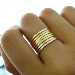 .and not expensive.  Change that- they are now expensive.  Pinterest makes things popular, should have bought it when they were $4 each...now they are $69: Gold Stacking, Stacked Rings, Gold Stacked, Band Gold, Gold Rings, Stacking Rings, Hammered Gold