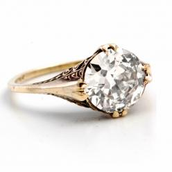 Antique Style Yellow Gold Diamond Engagement Ring  For more great Engagement Rings see: http://engagement-rings-specialists.com/ #Engagement #Rings: Diamond Engagement Rings, Wedding Ring, Antique Style, Yellow Gold, Diamonds, Gold Diamond Rings, Antiques