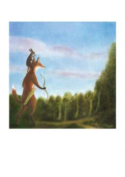 "Art Print of an Original Animal Painting: ""Searching for the Healing Sun"" by TheLitusGallery: Dixit Art, Animal Paintings, Healing Sun, Fantasy Art, Art Prints, Foxy Art"