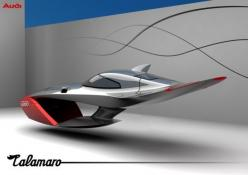 "Audi Calamaro concept. ""Calamaro"" is Italian for ""squid,"" an interesting inspiration. If they get it into production, they can call it Skunko and still it will go gangbusters. #flyingcar: Flying Cars, Conceptcars, Calamari Concept, Concept"