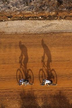 AWESOME SHOT!  2009 Absa Cape Epic Stage 6, Western Cape, South Africa. Photo by Gary Perkin  Love the perspective.: Picture, Photos, Bike, Cycling, Shadows, Photography, Bicycle