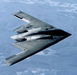 B-2 Spirit stealth bomber of the USAF. Stealth aircraft are designed to avoid detection using a variety of advanced technologies that reduce reflection/emission of radar, infrared,[1] visible light, radio-frequency (RF) spectrum, and audio, collectively k