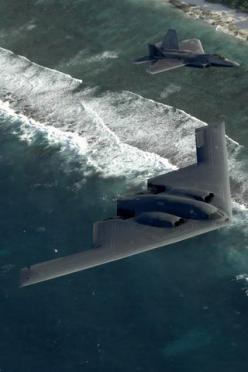B-2 Stealth Bomber and F-22 Raptor: F22 Raptor, Baddest Birds, Military Aircraft, Stealth Bomber, Airplane