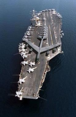 B52 on Air Craft Carrier.: Uss Nimitz, B52, Stuff, Airplanes, Aircraft, Ships, Navy, Aircraft Carriers, Military