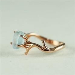 BACK BY POPULAR DEMAND!!!  Branch and Natural Blue Topaz Ring  Shop online at www.etsy.com/shop/4FireflyCollectionsUnique: Blue Topaz Ring, Natural Blue, Nature Ring, Rings, Unique Branch, Branch Ring, Raw Stone Ring, Rose Gold