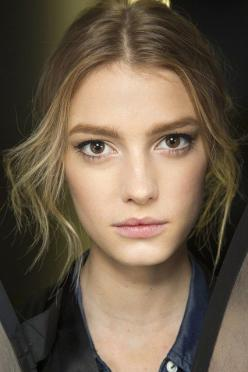 Backstage Beauty: Autumn/Winter 2014 - Dolce & Gabbana/ Pat McGrath created a classically romantic beauty look at Dolce & Gabbana, with velvety skin, flushed cheeks and eyes defined with winged liner and plenty of mascara.: Face, Fashion Weeks, Do