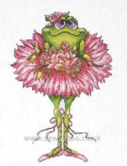 Ballerina frog 2  1/3: Cross Stitch Kits, Counted Cross Stitches, Crossstitch, Frog Bouquet, Bouquets, Frogs, Stitch Patterns