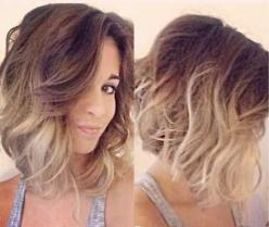 Beachy Waves for Short Hair | http://www.short-haircut.com/beachy-waves-for-short-hair.html: Short Hair, Hairstyles, Ombre Lob, Hair Style, Haircut, Long Bob, Hair Color