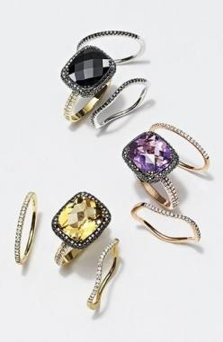 Beautiful! Bony Levy Gems: Stackable Rings, Wavy Stackable, Diamond Rings, Levy Wavy, Levy Rings, Bony Levy, Bling Bling, Stackable Diamond