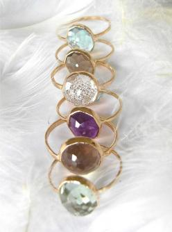 Beautiful Recycled 14k Gold, Stacking Gemstone Ring: Stackable Gemstone Rings, Gemstones Jewellery, Stacking Gemstones, Beautiful Recycled, 14K Gold, Silver Band, Gold Rings, Recycled 14K