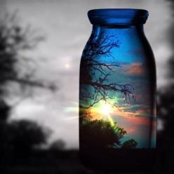 beautiful sunset, beautiful reflection beautiful frame: Photos, Color, Sunset, Beautiful, Art, Glass, Pictures, Bottle, Photography
