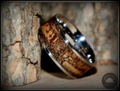 Bentwood Mediterranean Oak Burl Wood Ring, Stainless Steel Metal - Bentwood Wood Rings - Custom handcrafted wooden rings both durable and unique: Burl Wood, Metal, Oak Burl, Brown, Wood Rings, Mediterranean Oak, Stainless Steel, Bentwood Mediterranean