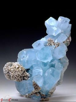 Beryl var. Aquamarine -  BERYL var. ACQUAMARINE - Nagar, Hunza Valley, Gilgit District, Northern Pakistan.: Hunza Valley, Gemstones Minerals, Gemstones Aquamarine, Aquamarine Gemstones, Beryl Var, Northern Pakistan, Aquamarine, Rocks Gems Minerals