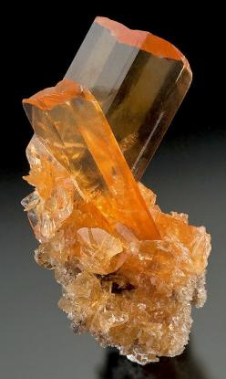 Blades of Golden Selenite on Selenite!  From Las Salinas, Otume Village, Pisco Province, Ica Department, Peru.: Golden Selenite, Minerals Crystal, Crystal, Gemstones Minerals, Gems Minerals, Gemstones, Gem Stones, Selenite Crystal, Crystals Gems Rocks