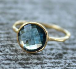 blue & gold ring: Blue Topaz Ring, Style, Gold Blue, Gold Rings, Jewelry, Jewels, London Blue