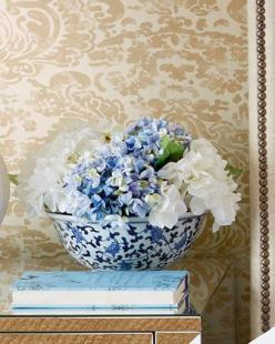 Blue & White #Hydrangea Faux-Floral Arrangement by @John- Richard at #Horchow.: Decor, Hydrangea Faux Floral, Collection Blue, Faux Floral Arrangement, Hydrangea Arrangements, John Richard, Flowers, White Hydrangeas, Blue And White