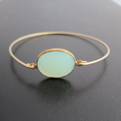 Blue Chalcedony Bracelet: Chalcedony Bangle, Seafoam Chalcedony, Chalcedony Bracelet, Sea Foam, Bracelets, Frosted Willow, Aqua Green, Jewelry