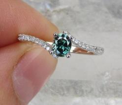 Blue Diamond Engagement Ring- would love if it was princess cut: Diamond Engagement Rings, Colored Diamond Ring, Blue Diamond Ring, Blue Diamond Engagement Ring, Blue Diamonds, Wedding Rings, Blue Engagement Ring