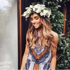 : Boho Chic, Bohemian Fashion, Boho Hippie, Bridesmaid, Brilliance Necklaces, Chic Bohemian, Bohemian Jumpsuit, Hair, Floral Crowns