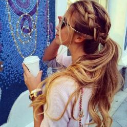 Braid and ponytail: Pony Tail, Ponytail, Hairstyles, Hair Styles, Hairdos, Long Hair, Braids