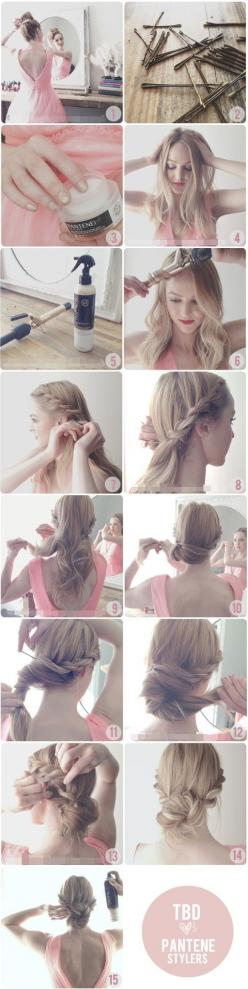 braided updo: Hairstyles, Wedding Hair, Hair Styles, Hair Tutorial, Rope Braid, Makeup, Updo, Braided Bun