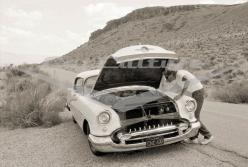 Breakdown on Route 66 - Limited Edition Fine Art Print: Route66, Mojave Desert, Oldsmobile Holiday, Art Prints