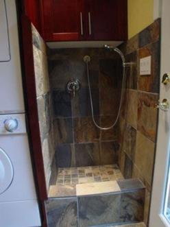 built-in dog wash (mudroom).  wont be using expensive slate tile but still love the idea.  also great for dirty shoes and mud-covered children: Mud Covered Children, Built In Dog, Dirty Shoes, Dog Wash, Wash Mudroom, Expensive Slate, Mud Rooms, Laundry Ro