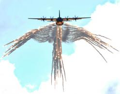 "C-130 ""angel wings"" flare pattern   Saw this once when I was younger, AMAZING!: Airplane, Aircraft, Angel Of Death, Flare, Photo, Planes, Military"