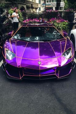 Car: Lamborghini Aventador   Location: Mayfair, London - #LAMBORGHINI #PURPLE: Luxury Cars, Dream Cars, Awesome Cars, Lamborghini Aventador
