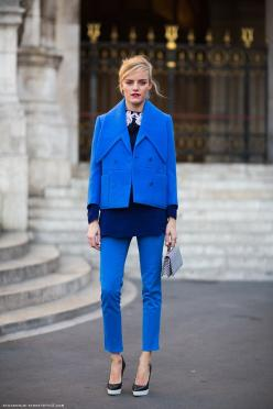Carolines Mode | StockholmStreetStyle: Fashion, Inspiration, Color, Street Style, Cobalt Blue, Outfit, Electric Blue