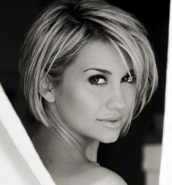 Chelsea Kane - love her hair! If I ever get short hair, I think Ill try this!: Short Cut, Hairstyles, Hair Styles, Cute Short Hairstyle, Layered Bob, Hair Cut, Short Hair Style