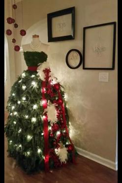 Christmas Tree Mannequin: Holiday, Idea, Dress Form, Christmas Tree Dress, Dresses, Christmas Trees
