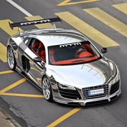 Chrome Audi R8. Too much bling?: Supercars, Rides, Audi R8, Chrome Audi, Cars, Wheels, Dream Cars, R8 V10, Chrome R8