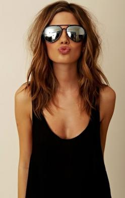 color: Hairstyles, Medium Length, Hair Styles, Haircolor, Hair Cut, Ray Ban, Haircut, Hair Color, Hair Length