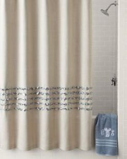Condotti Shower Curtain  by Dransfield & Ross House at Neiman Marcus. Crtn shwr dcc bgn: Showers, White Curtains, Bathroom Upgrades, Bathroom Remodel, Condotti Shower, Shower Curtains, House Condotti, Ross House