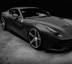 Cool Matte Black Ferrari via carhoots.com: Black Ferrari, F12 Berlinetta, Dream Cars, Auto, Matte Black, Ferrari F12, Dreamcar